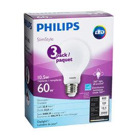 Philips Daylight Slim - 10.5w = 60W - 3 pack