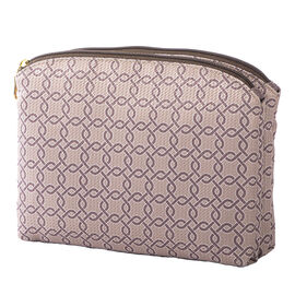 Modella Jacquard Zip Clutch - Brown - A000261LDC