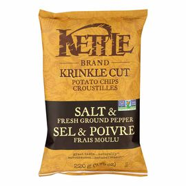 Kettle Brand Potato Chips - Salt and Fresh Ground Pepper - 220g
