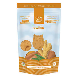 Love Child Owlies Organic Spelt Cookies - Sweet Potato + Ginger - 170g