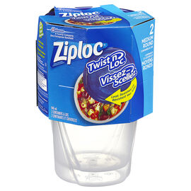 Ziploc Twist 'n Loc - Medium - 2 Containers & Lids