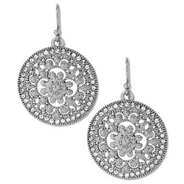 Haskell Silver Round Filigree Earrings
