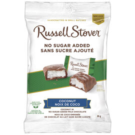 Russell Stover No Sugar Added Chocolate - Coconut - 85g