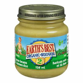 Earth's Best - Green Beans & Rice - 128ml