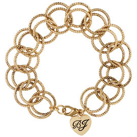 Betsey Johnson Circle Link Bracelet - Gold Tone
