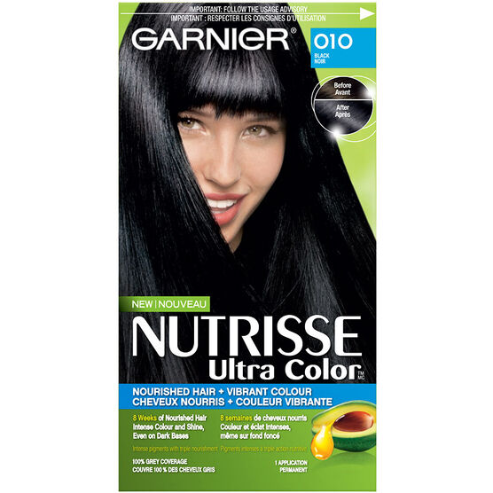 Garnier Nutrisse Ultra Color Permanent Hair Colour 10 Black London S