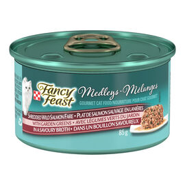 Fancy Feast Elegant Medley Deluxe Cat Food - Wild Salmon Florentine - 85g