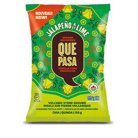 Que Pasa Tortilla Chips - Jalapeno & Lime - 156g