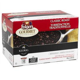 K-Cup Folgers Coffee - Classic Roast - 12 Servings