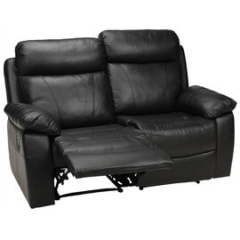 London Drugs Leather Loveseat - Black