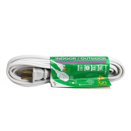 Globe 3 Outlet Extension Cord - 4.5M - White