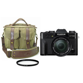 Fujifilm X-T20 Black with 16-50mm XC Lens with Roots 73 Classic Messenger Bag and Techpro SD 58mm Polarizer Filter - PKG #16381