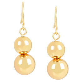 Haskell Graduated Balls Earrings - Gold