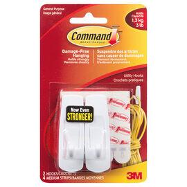 3M Command Utility Hooks - Medium - 2's