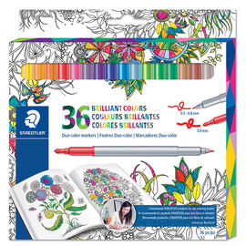 Staedtler Duo Colour Markers - 36's