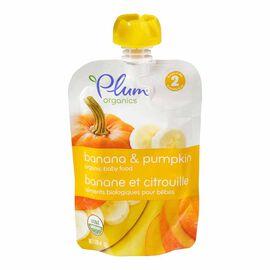 Plum Organics - Pumpkin and Banana - 128ml