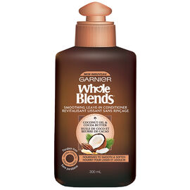 Garnier Whole Blends Smoothing Leave in Conditioner - Coconut Oil & Cocoa Butter - 300ml