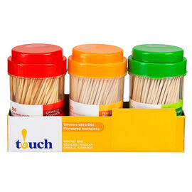 Touch Toothpicks in Jar - 3 x 250's