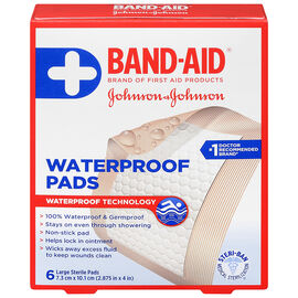 Johnson & Johnson Band-Aid Waterproof Pads - 7.3 x 10.1cm