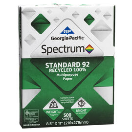 Spectrum Recycled Paper - 500 Sheets - 8.5 x 11inch