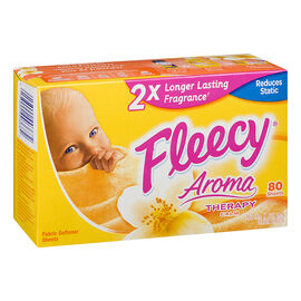 Fleecy Aroma Therapy Fabric Softener Sheets - Calm - 80's