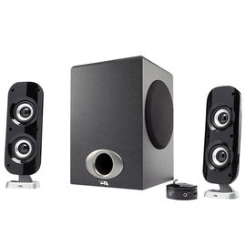 Cyber Acoustics Satellite Speaker System with Control Pod - Black - CA-3810