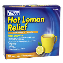 London Drugs Hot Lemon Relief -  Extra Strength - 10's
