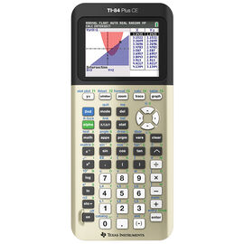 TI-84 Plus CE Graphing Calculator - Gold Edition - TI-84CE-GOLD