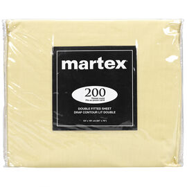Martex Fitted Sheet - Double - Assorted