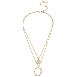 Kenneth Cole Double Pendant - Crystal/Gold Plated
