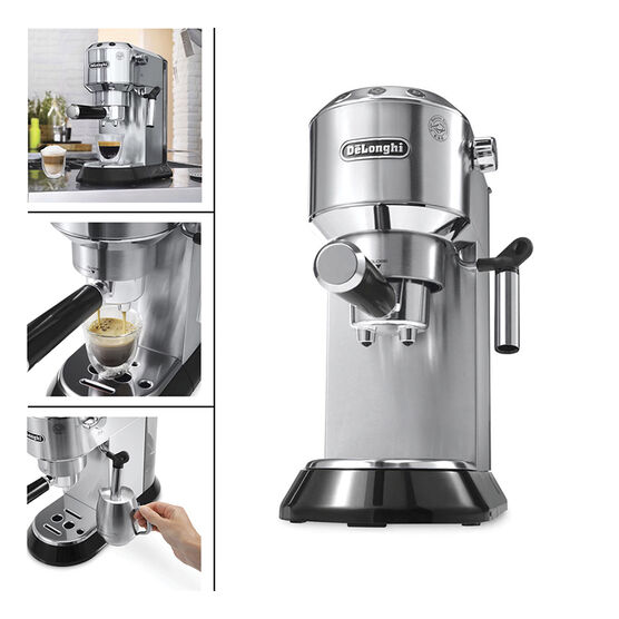 Delonghi Coffee Maker Stainless Steel Espresso : DeLonghi 15 Bar Espresso Maker - Stainless Steel - EC680M London Drugs