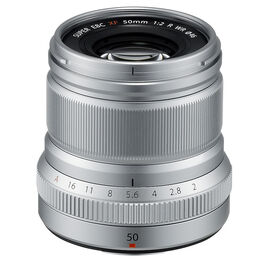 Fuji XF 50mm F2 R WR Lens - Silver - 600018211
