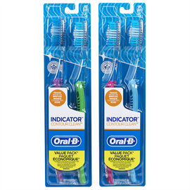Oral-B Indicator Contact Clean Toothbrushes Assorted - Soft - 2's