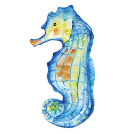 London Drugs Melamine Plate - Sea Horse - 11.9in