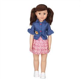 Wispy Walker Doll - Denim Top - 28 inches