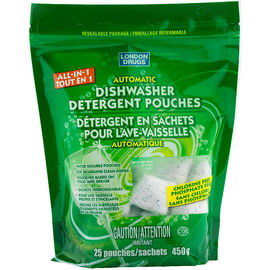 London Drugs Automatic Dishwasher Pouches - 25's