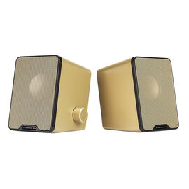 Certified Data Deluxe USB Powered Speakers - Gold - HXM-L-18
