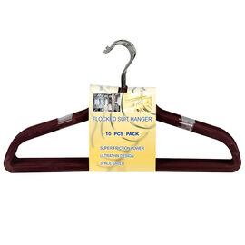 London Drugs Flocked Suit Hanger - Red - 10 pack