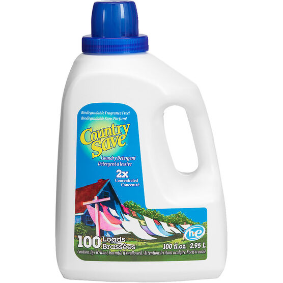 Country Save 2X Concentrated Liquid Laundry Detergent - Fragrance Free - 2.95L/100 loads