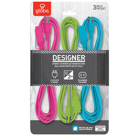 Globe Extension 2M Cords - Neon - 3pk