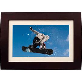 Sylvania 10-inch Digital Photo Frame - Burgundy/Brown - SDPF1089