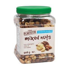 London Plantation Mixed Nuts - Roasted & Unsalted - 908g