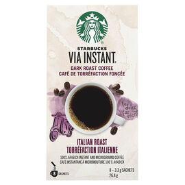 Starbucks Via Instant Dark Roast Coffee - Italian Roast - 8 Servings