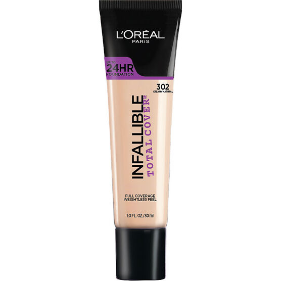 L'Oreal Infallible Total Cover Foundation - Creamy Natural