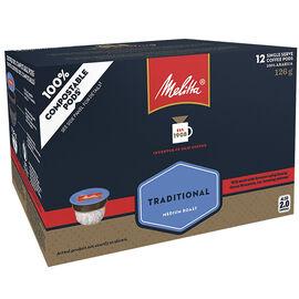 Melitta Single Serve Coffee - Traditional - 12 Servings