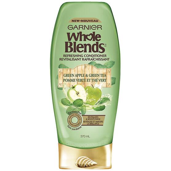 Garnier Whole Blends Refreshing Conditioner - Green Apple & Green Tea - 370ml