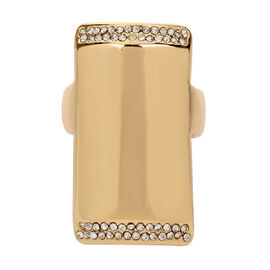 Kenneth Cole Cube Ring - Crystal/Gold
