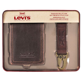 Levi's Wallet and Key Fob with Utility Clip - Brown - One Size
