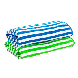 Striped Jacquard Beach Towel - 30 x 60inch - Assorted
