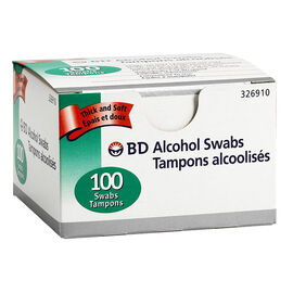BD Alcohol Swabs - 100's